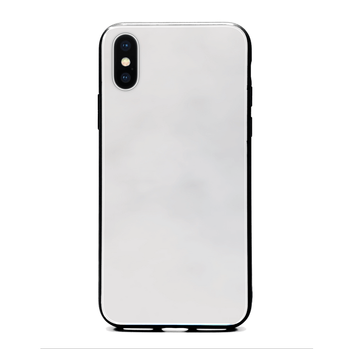 Blank iPhone x Glass phone case with Back rubber edges