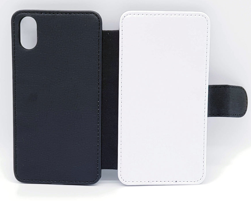 6 Photo Collage | iPhone X Wallet Phone Case - back and front blank visual