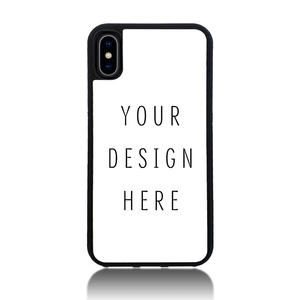 Design Your Own iPhone X Black Rubber Phone Case