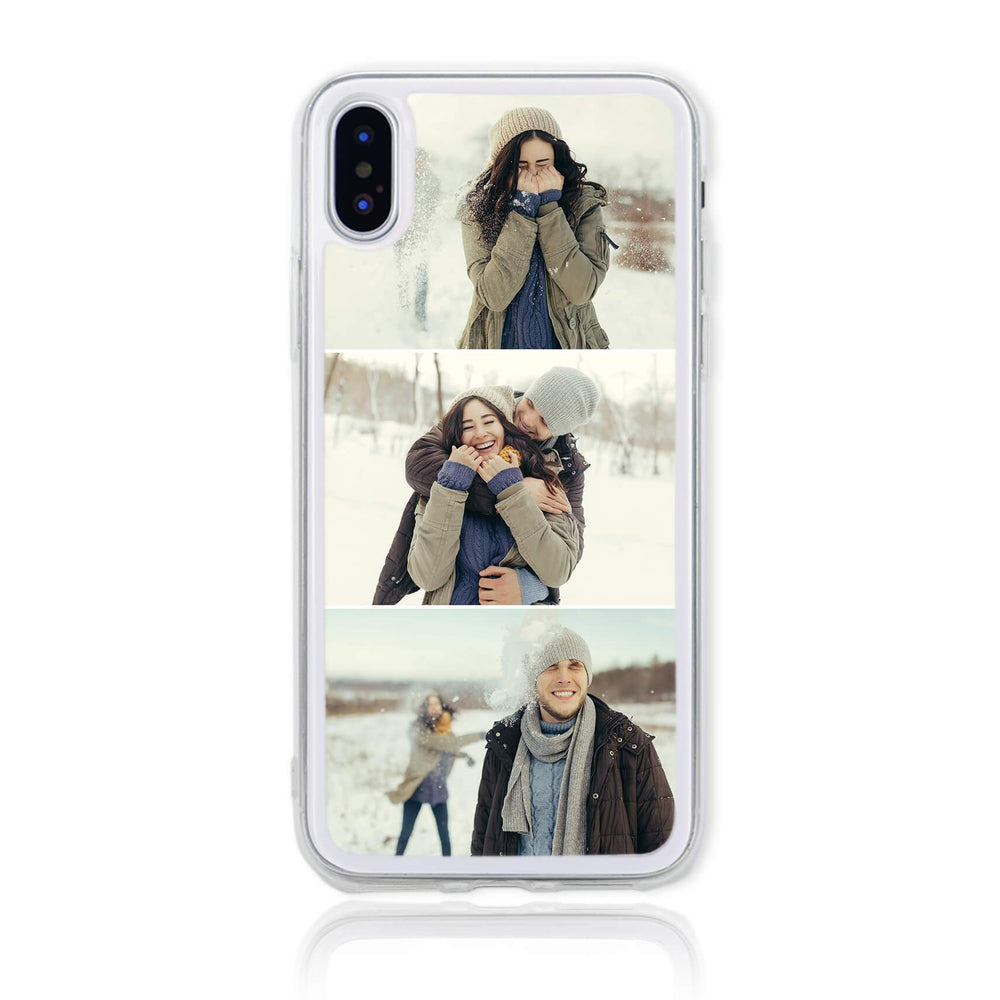 iPhone X Clear Phone Case | 3 Photos Phone Case