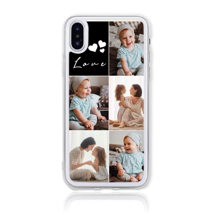 5 Photo Collage - iPhone X Clear Phone Case design-your-gift.