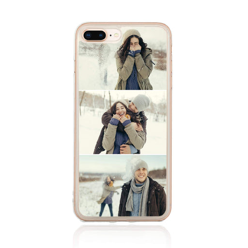 3 Photo Collage - iPhone 7 Plus Clear Phone Case
