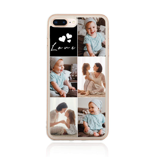 5 Photo Collage - iPhone 7 Plus Clear Phone Case
