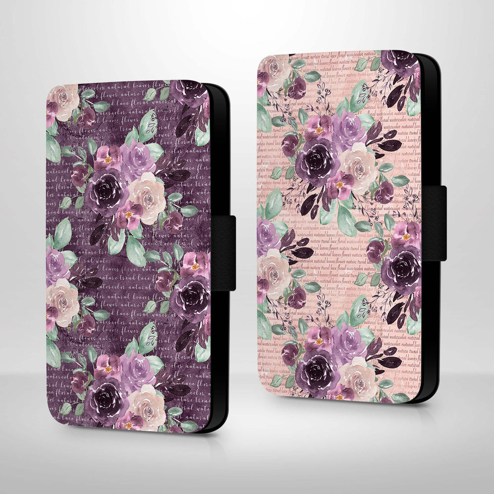 Flowers & Leaves Design | iPhone 7 Wallet Phone Case