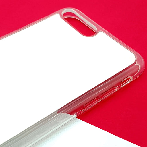 ZigZag Ombre with your Text - iPhone 7 Plus Clear Phone Case blank