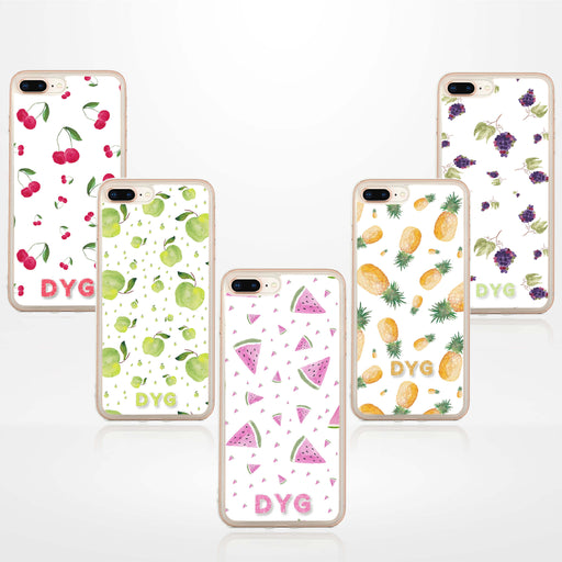 Fruity Design with Initials - iPhone 7 Plus Clear Phone Case