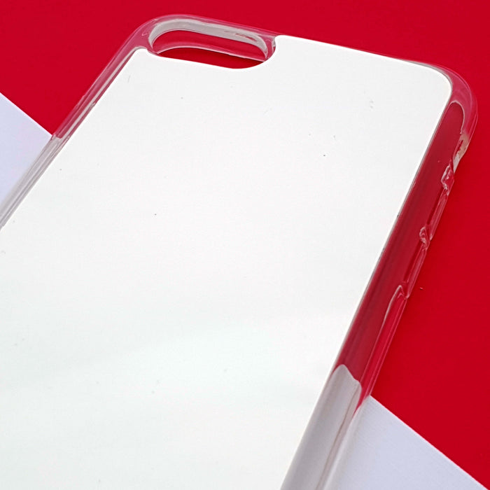 ZigZag Ombre with your Text - iPhone 8 Clear Phone Case Blank