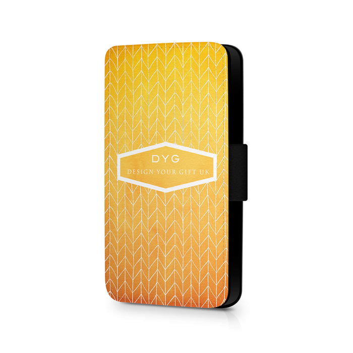 ZigZag Ombre with Text | iPhone 8 Wallet Case - summer colours design