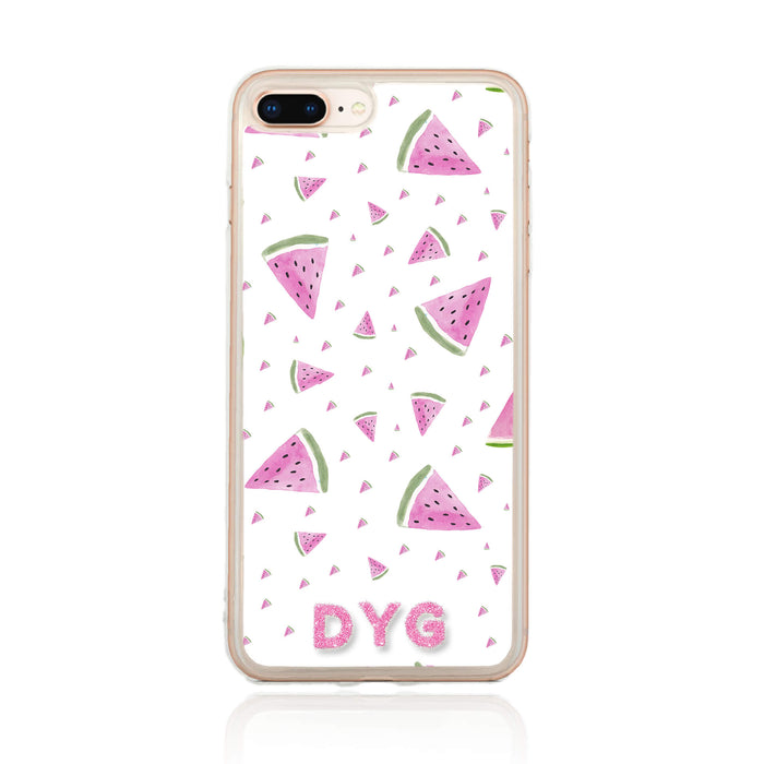 Fruity Design with Initials - iPhone 8 Plus Clear Phone Case design-your-gift.