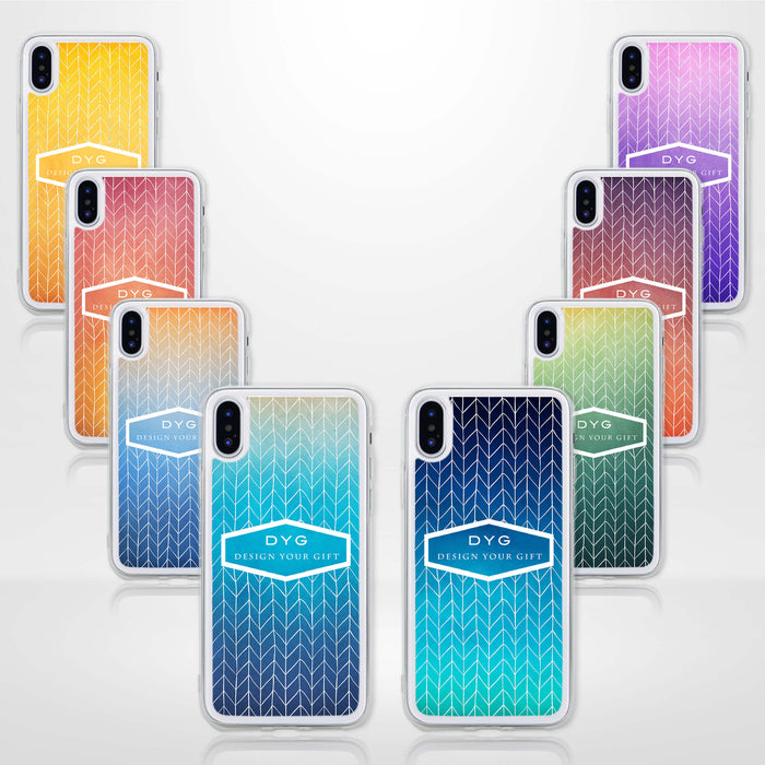 ZigZag Ombre with your Text - iPhone X Clear Phone Case