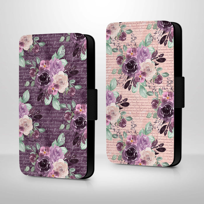 Flowers & Leaves Design | iPhone X Wallet Phone Case