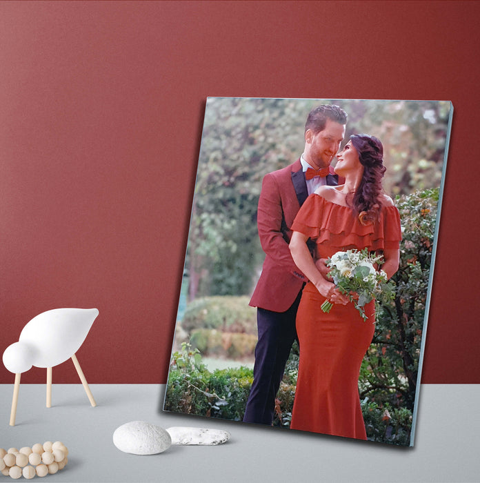 Personalised Wooden Photo Block 7''x9'' scene