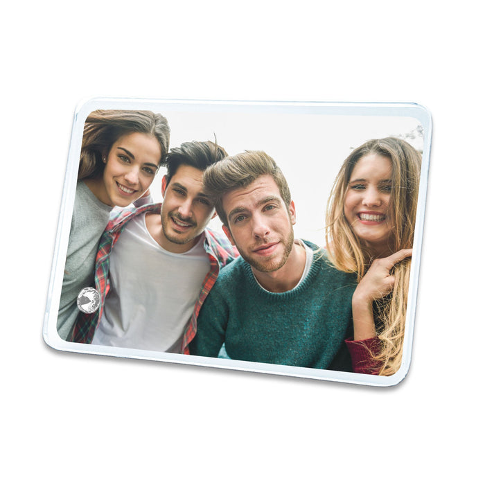 Personalised Landscape Crystal photo block with round corners 18x13 cm printed with your photo