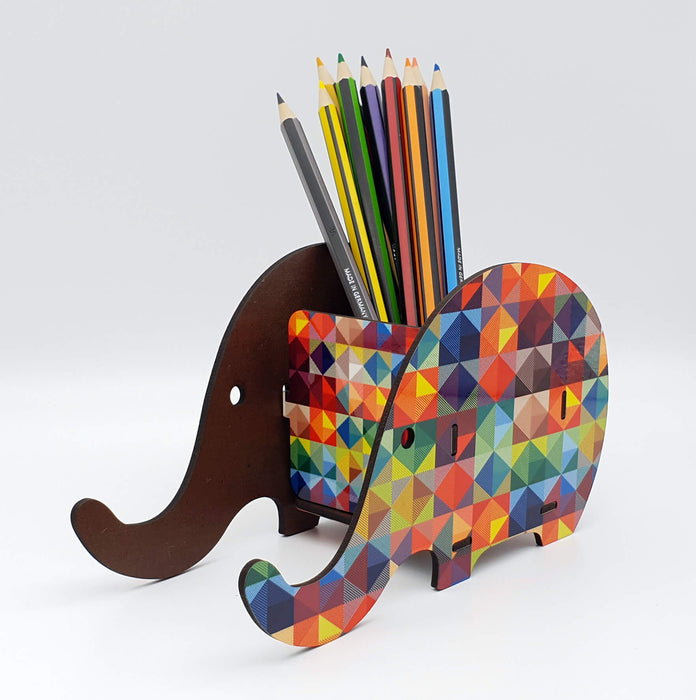 elephant shape Personalised Desk Organiser side 2