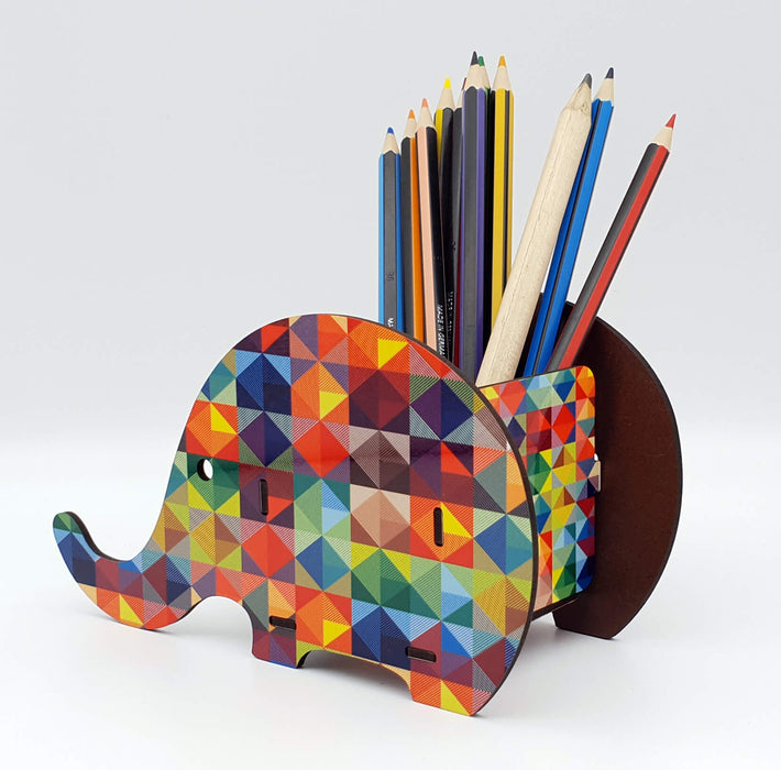 elephant shape Personalised Desk Organiser side 1