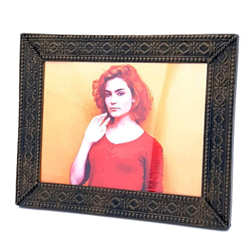 personalised Aluminium Photo Panel With Embossed frame