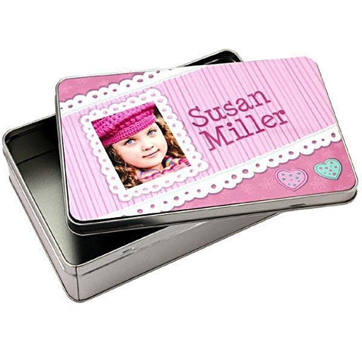 rectangle personalised tin Box mad of aluminium