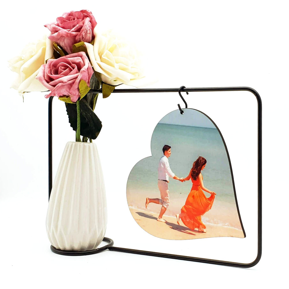 personalised Photo Block and Vase front