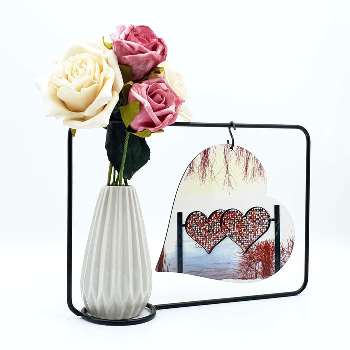 personalised Photo Block and Vase back
