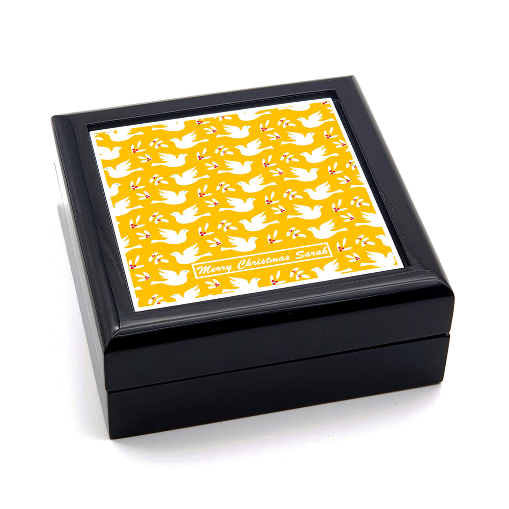 Personalised Christmas Eve Box - Black  | Doves Design design-your-gift.