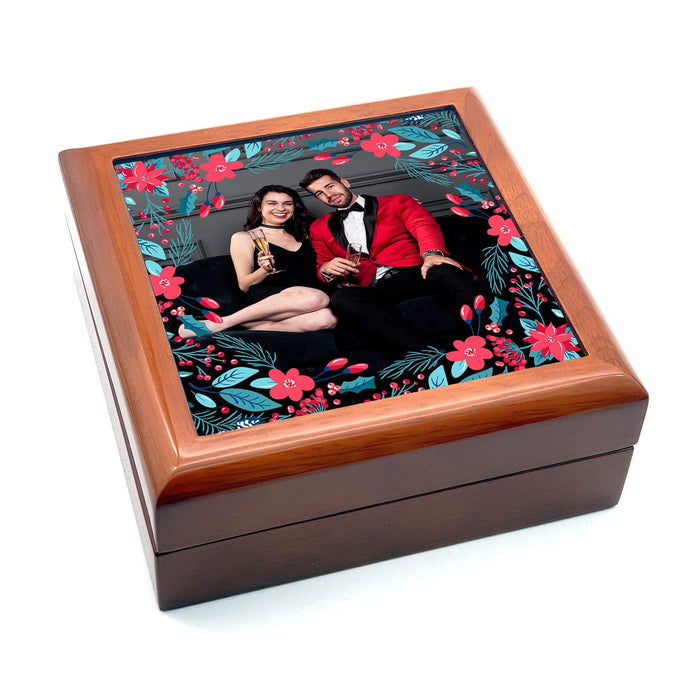 Personalised Christmas Eve Box With Photo - Brown design-your-gift.