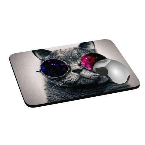 personalised mouse mat made of rubber and fabric