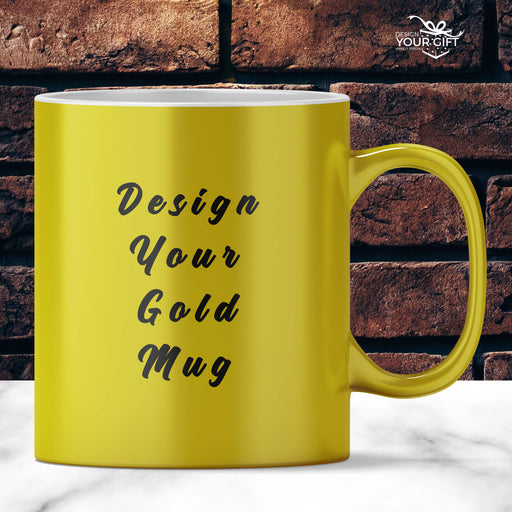 Personalised Gold Mugs | Design Your Own Mug design-your-gift.