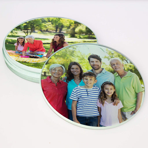 Personalised Round Glass Coaster design-your-gift.