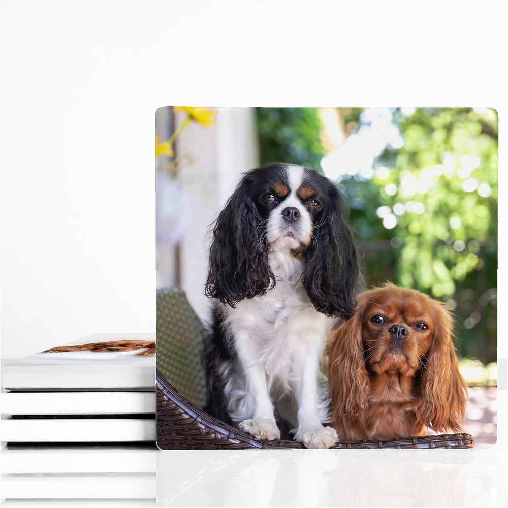 Personalised Square Ceramic Coasters design-your-gift.