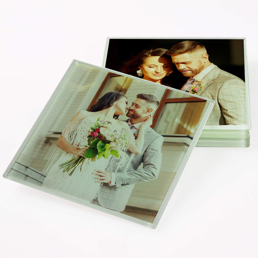 Personalised Square Glass Coaster design-your-gift.
