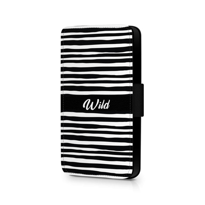 Black & White Pattern | Galaxy Wallet Initials Phone Case design-your-gift.