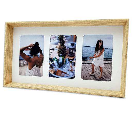 Triple Photo Frame with three 4x6 Photos Frame