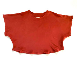 SAMPLE SALE: THE BLANK CANVAS TOP in SILK CREPE