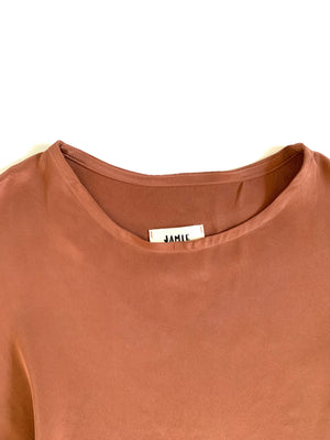 SAMPLE SALE: THE T TOP IN SILK CREPE