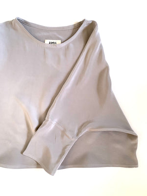 SAMPLE SALE: THE T TOP IN SILK CREPE *EXTENDED LENGTH*