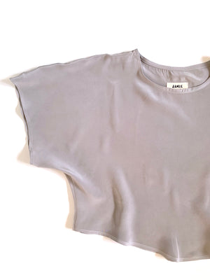 THE BLANK CANVAS TOP in SILK CREPE