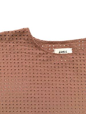 SAMPLE SALE: THE BLANK CANVAS TOP in GEOMETRIC EYELET *EXTENDED*