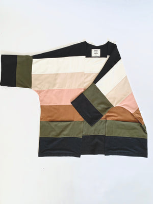 THE COLOR BLOCKED HAORI
