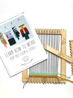 THE POP OUT LOOM + TOOLS KIT: LEARN HOW TO WEAVE