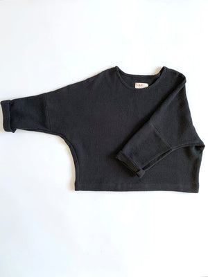 SAMPLE SALE: THE TWILL T SWEATER *EXTENDED LENGTH*