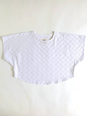 THE BLANK CANVAS TOP in EYELET LACE