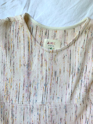 THE PIECED CONFETTI T SWEATER