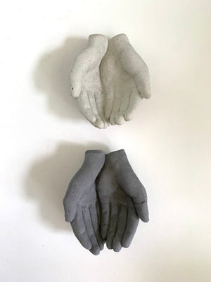 CHARCOAL CONCRETE HANDS