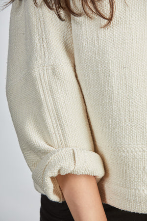 THE PIECED HEAVY WEIGHT T SWEATER