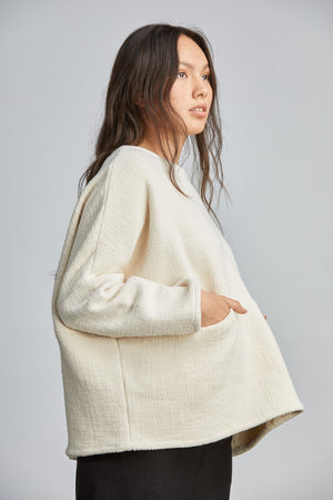 THE POCKET BOX SWEATER: PRE-ORDER *6-8 WEEKS*