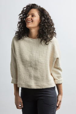 SAMPLE SALE: THE HEAVY WEIGHT T SWEATER *EXTENDED LENGTH*