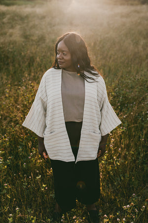 THE STRIPED COTTON HAORI