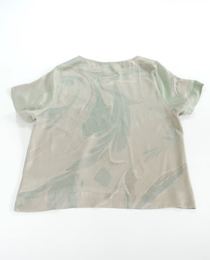 THE MARBLED SB TEE in SILK CHARMEUSE