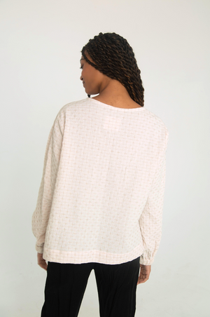 THE COTTON + LINEN POOF TOP