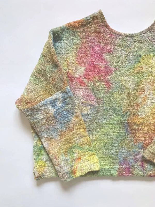 SAMPLE SALE: THE COSMIC DYED MID-WEIGHT T SWEATER *EXTENDED LENGTH*